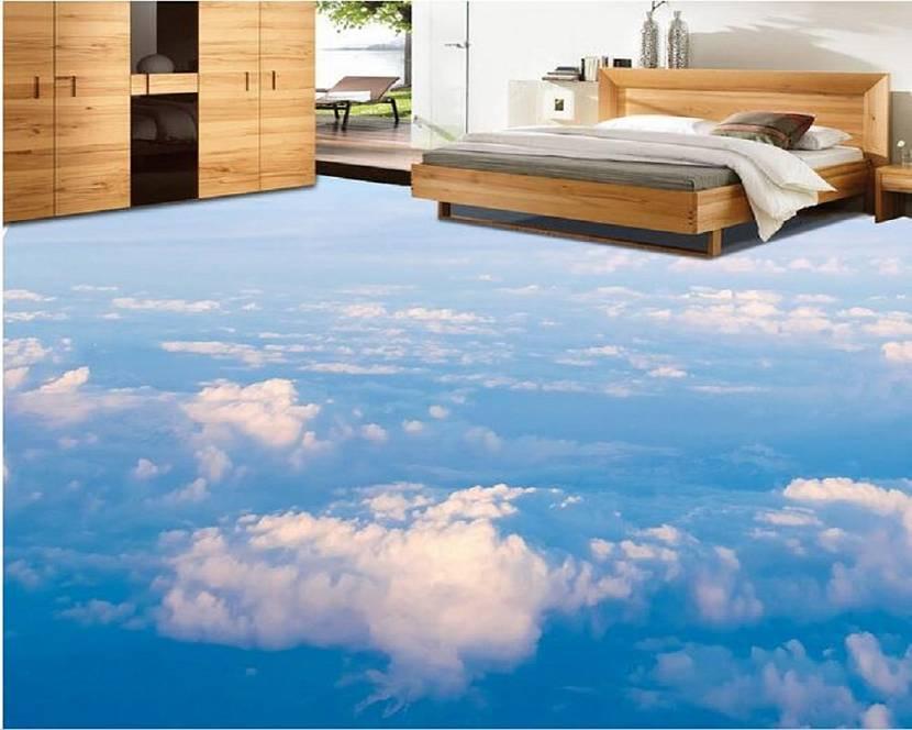 Наливные 3д полы спальни