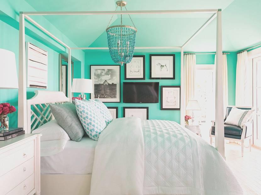 Спальня в стиле тиффани