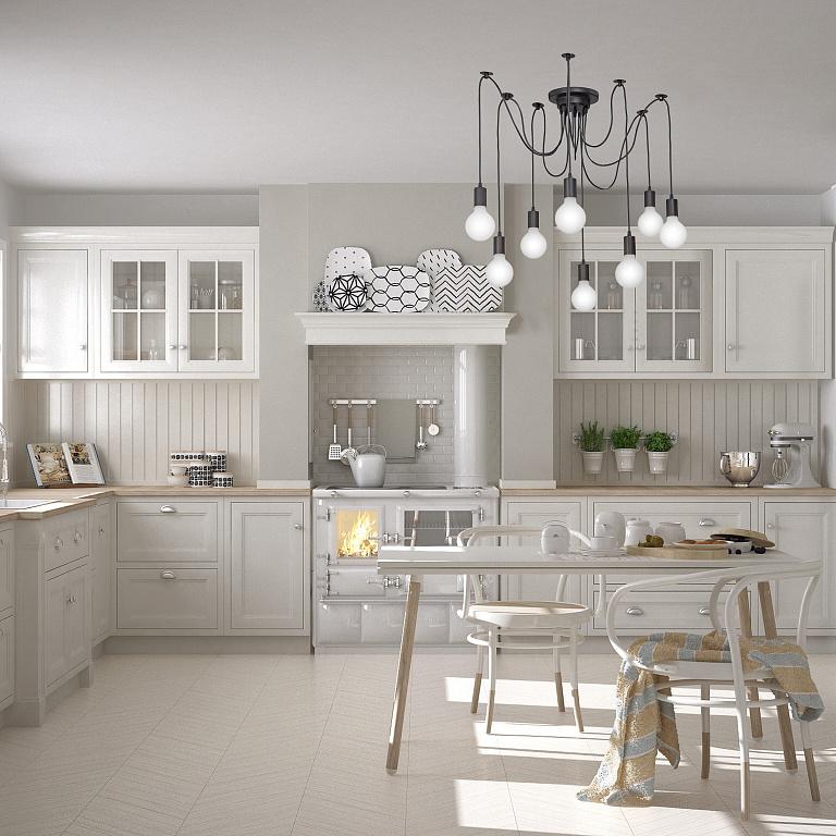 Легкий, прозрачный дизайн кухни