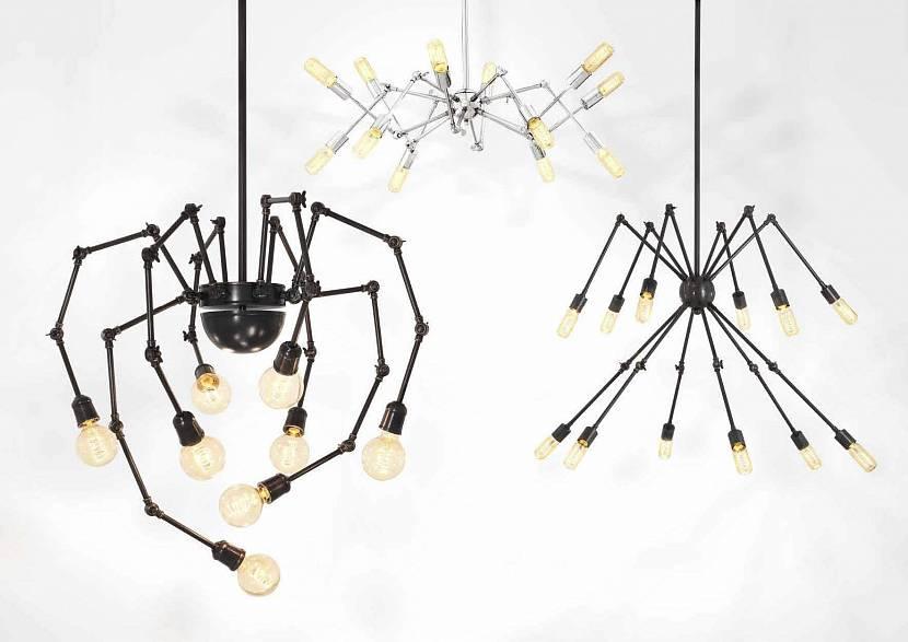 Варианты установки штативов с разными лампами и плафонами