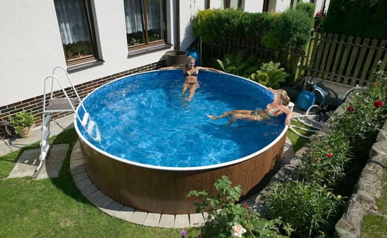как установить каркасный бассейн в теплице