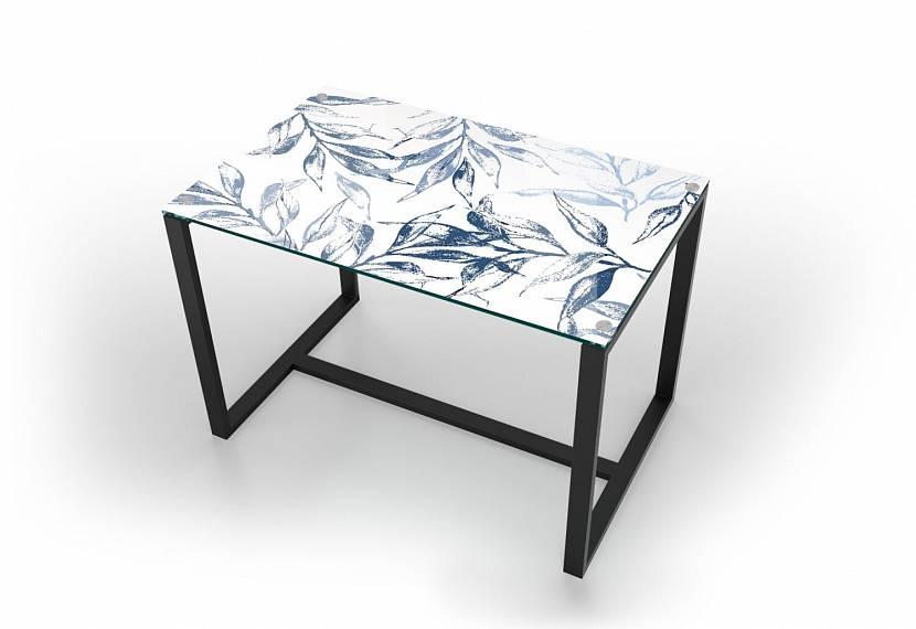 Стеклянный небольшой столик лофт