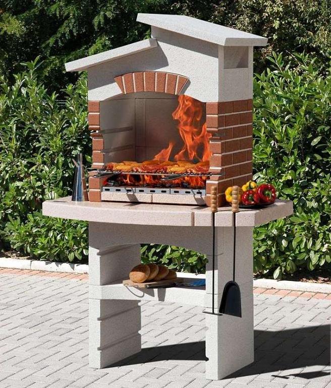уличная печь из кирпича