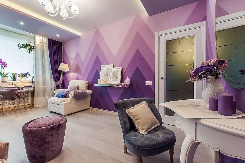 Фиолетовые оттенки в дизайне