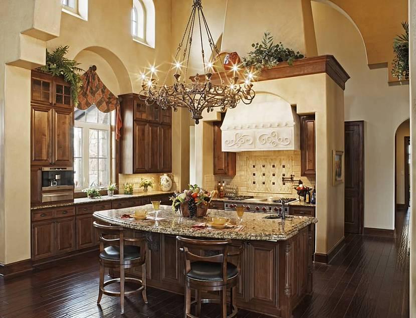 кухня орех в интерьере