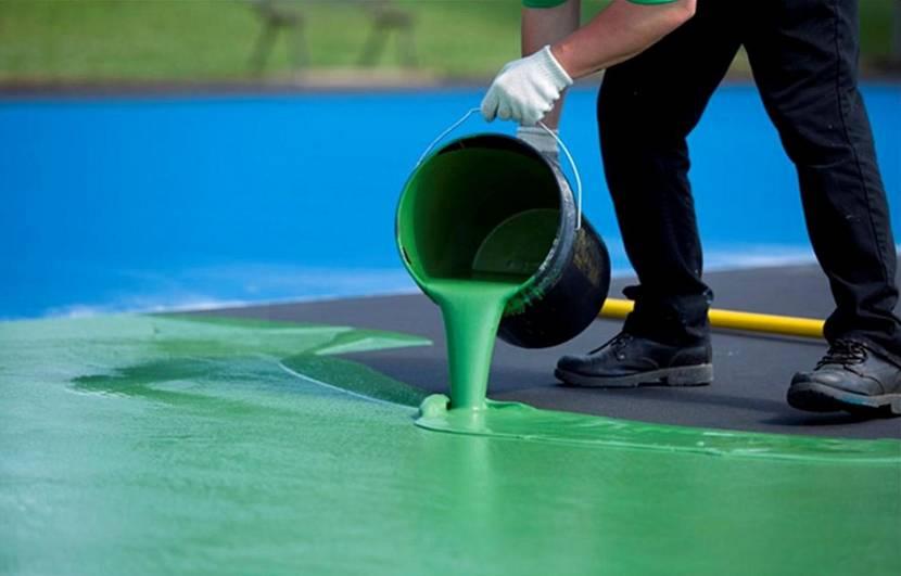 Окраска резиновой краской