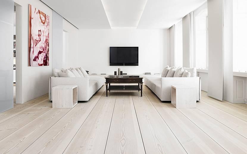 Белый цвет стен всегда в моде