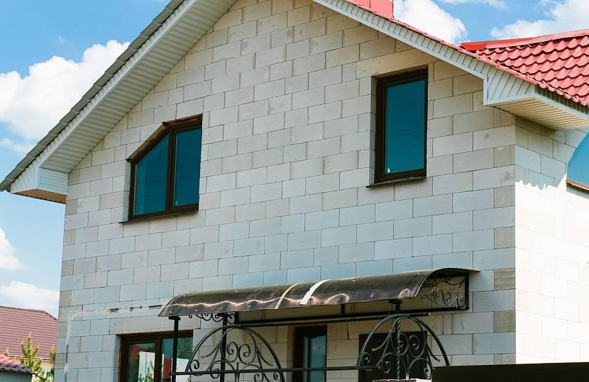 Так выглядит дом из газосиликата
