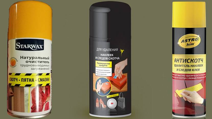 Специализированные средства для удаления следов скотча с пластикового покрытия
