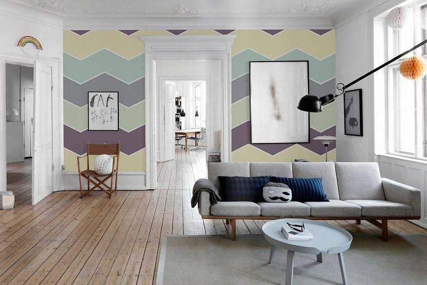 Стены, окрашенные водоэмульсионной краской