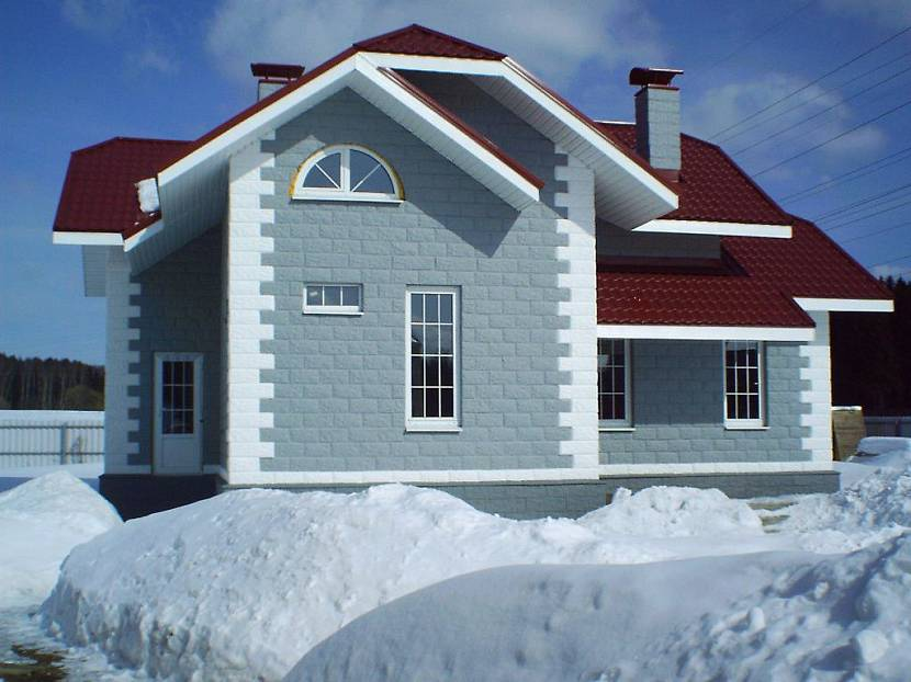 дома из теплоблоков