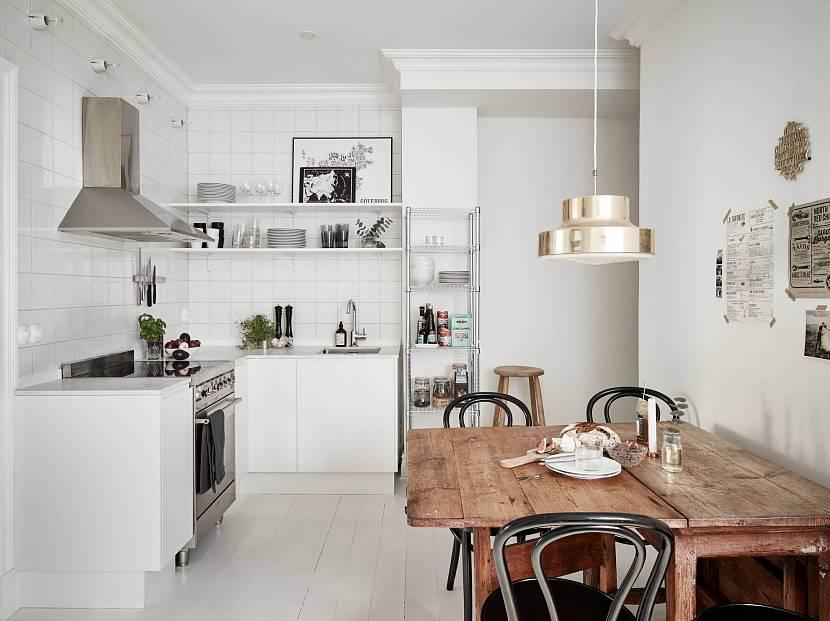 Кухня с нижними полками