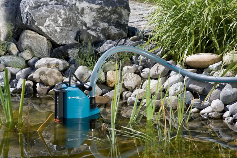 Насос для полива с водозабором из пруда