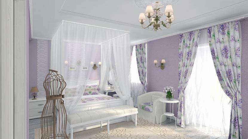Занавески для светлой спальни