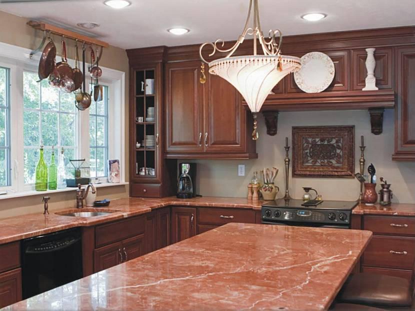 Терракотовый цвет на кухне