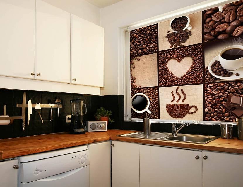 Оригинальные рулонные шторы на кухню