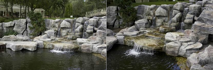 Каскадный водопад из архитектурного бетона