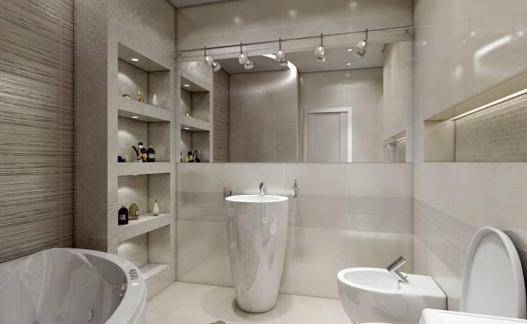 Дизайн ванной комнаты: современный стиль, модное оформление и ...