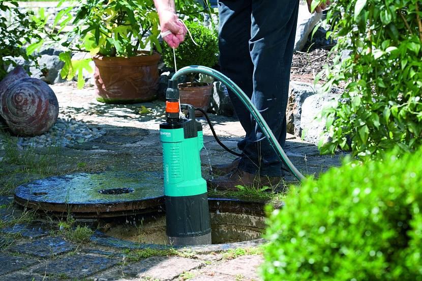 Дренажный насос, используемый для полива