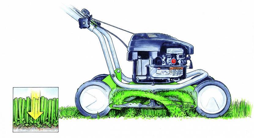 Принцип работы газонокосилки