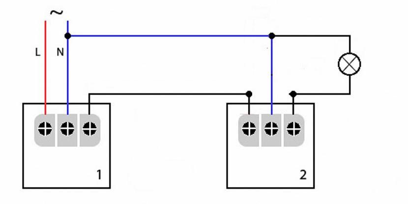 Схема параллельного подключения двух датчиков движения