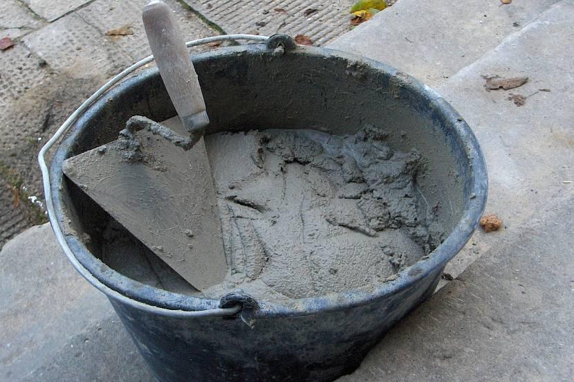 Готовый цементно-песчаный раствор