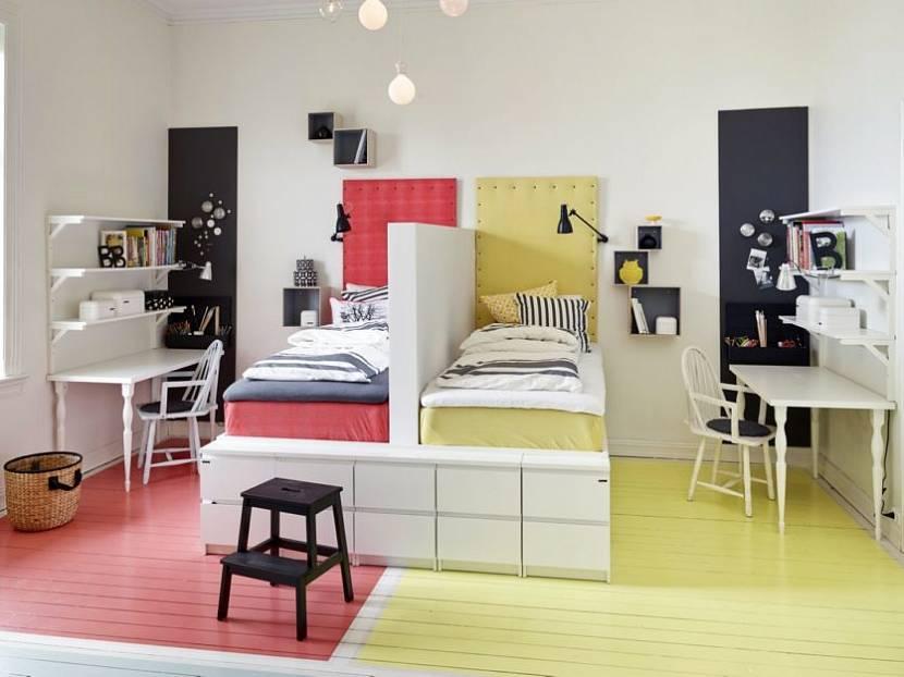 4 цвета в одной комнате