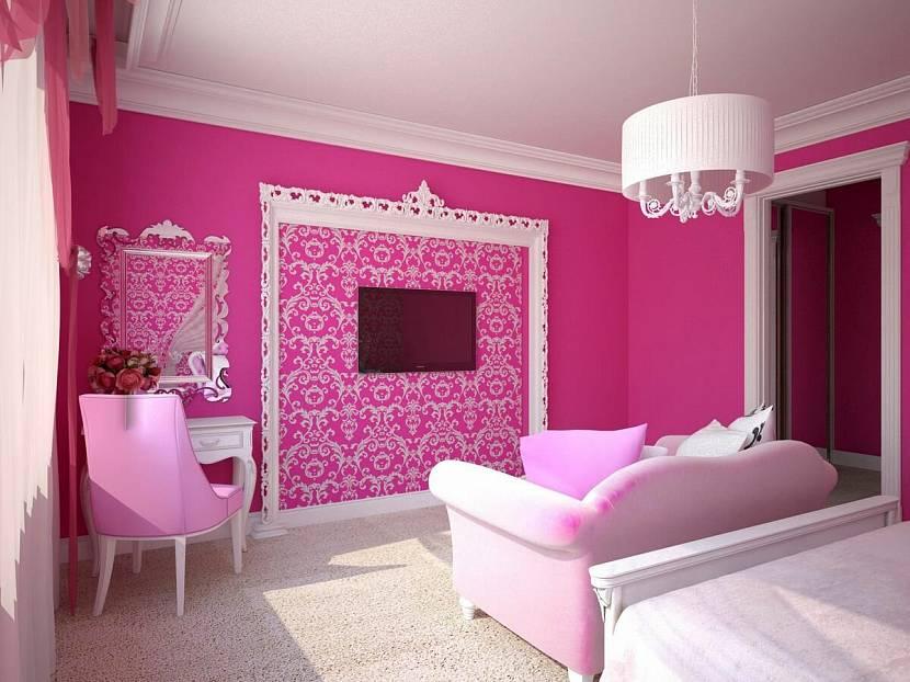 Интерьер комнаты Барби