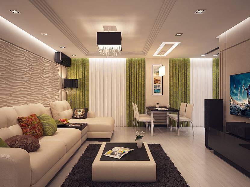новых современный дизайн зала в квартире фото порошина