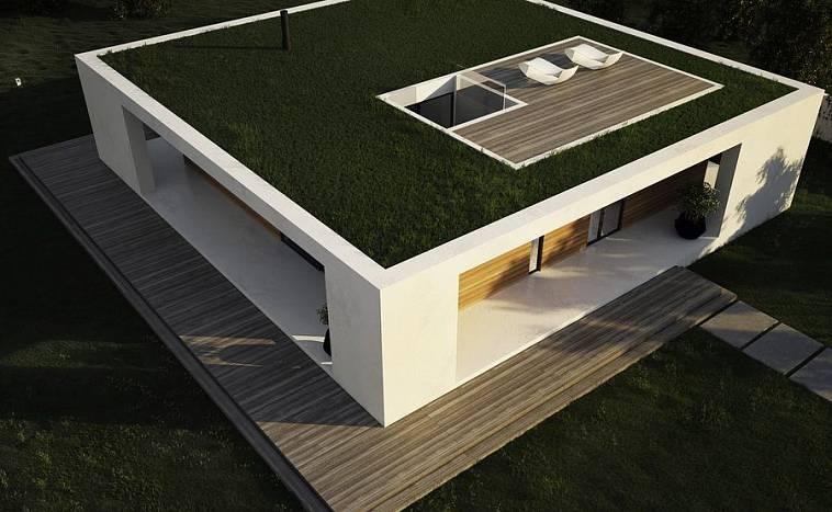 Проекты домов с плоской крышей: