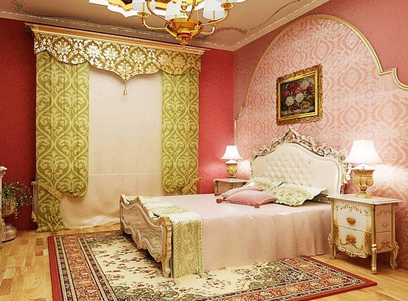 Арабская розовая комната
