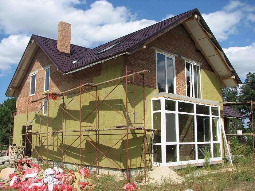 Монтаж утепления фасада каменной ватой
