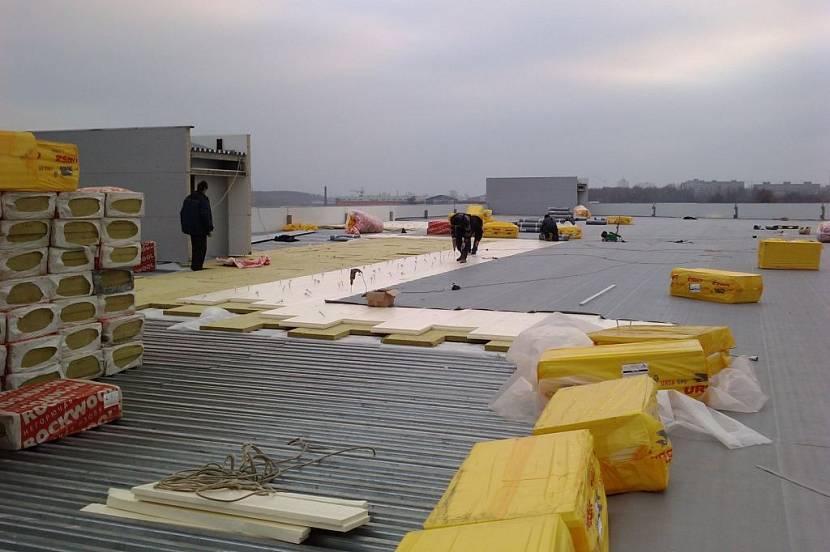 утепление плоской эксплуатируемой крыши