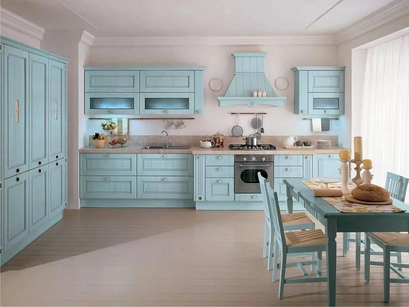 Ретро-стиль в кухне двух тонах