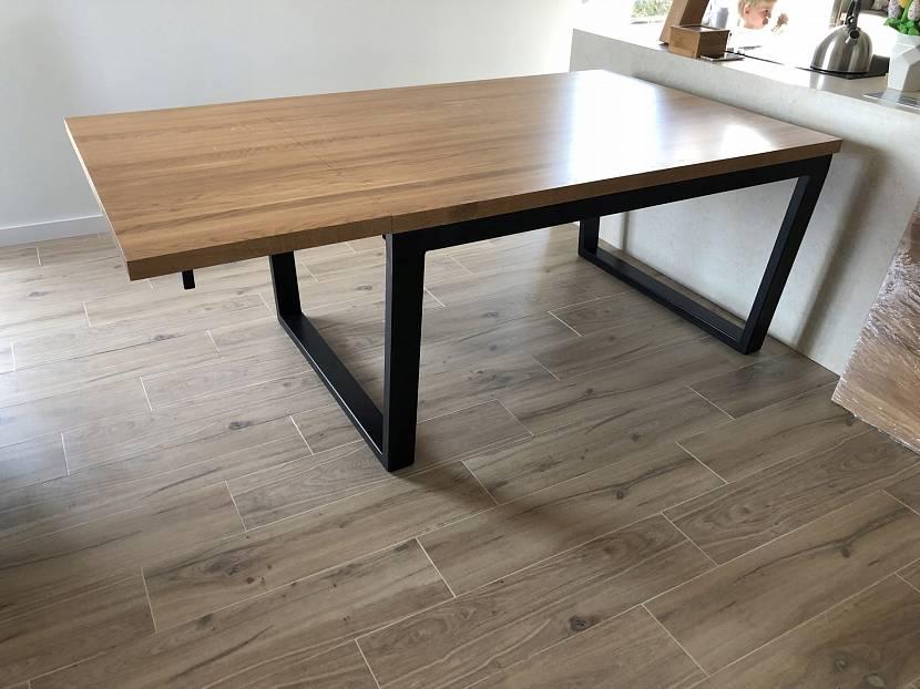 Деревянный стол трансформер в стиле лофт