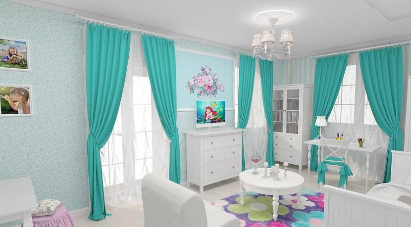 Детская спальня в стиле тиффани