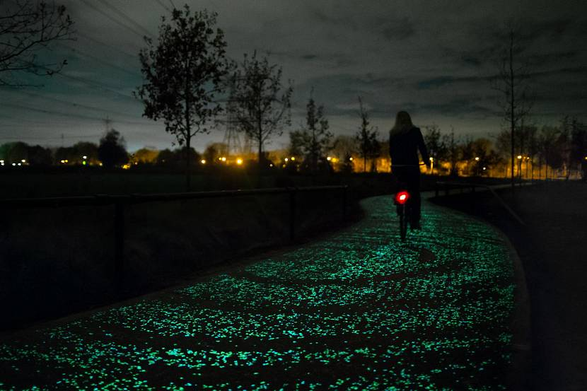 Пример флуоресцентной дорожки