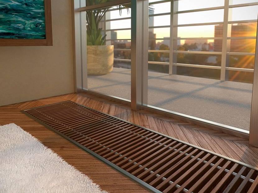 В каких помещениях устанавливают встраиваемые в пол радиаторы?