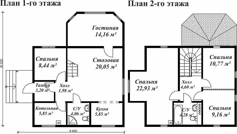 Планировка со спальней на 1 этаже