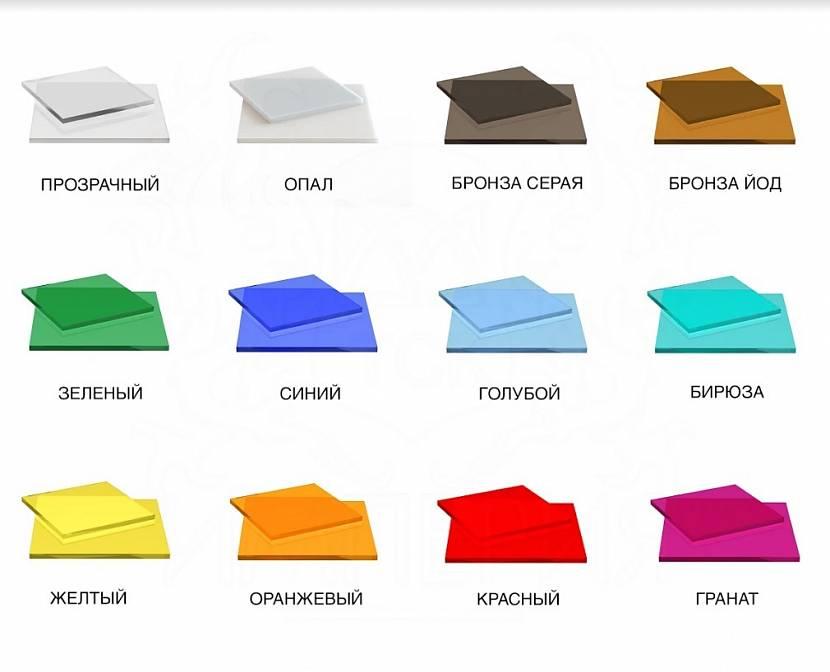 Варианты цветов панелей