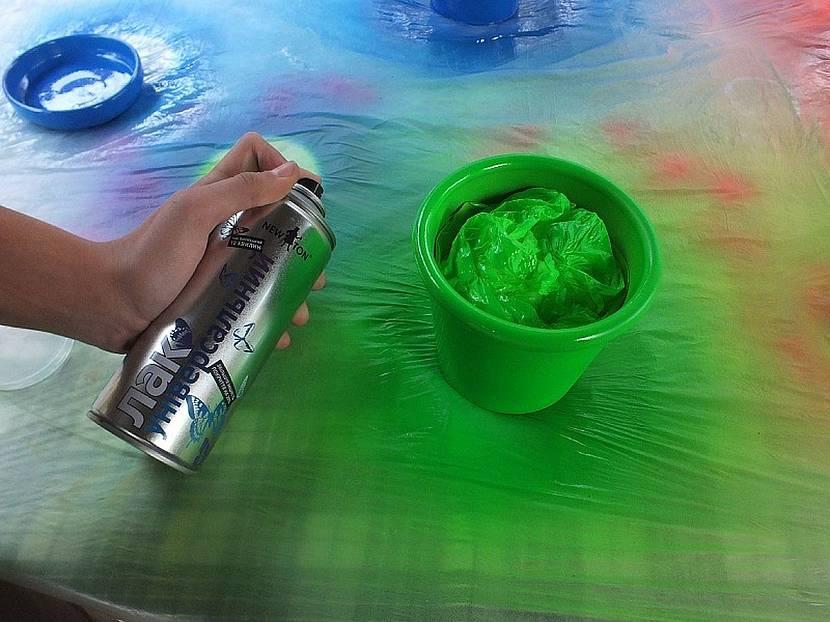 Баллончик со флуоресцентной краской