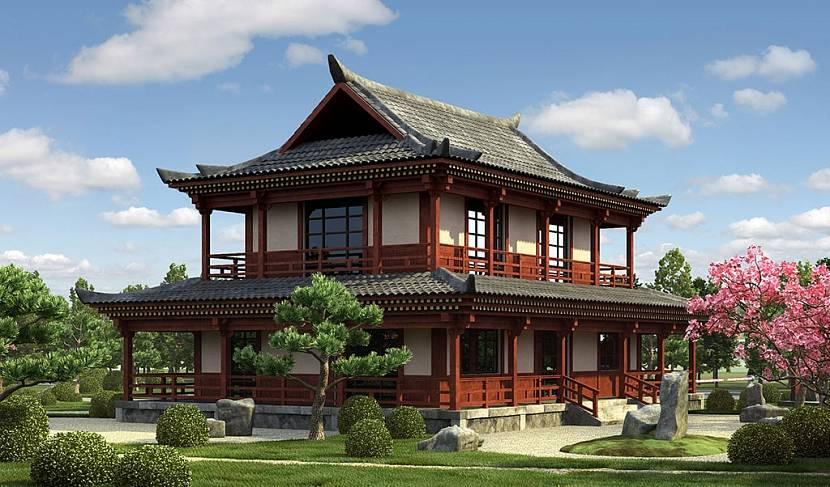 Проект дома в восточном стиле