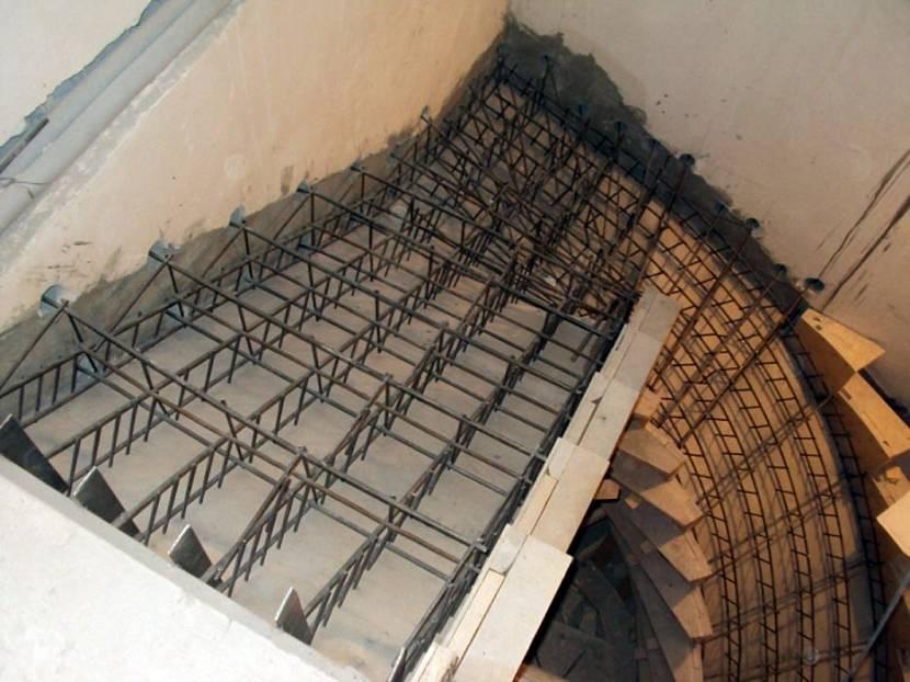 Проект армирования лестницы
