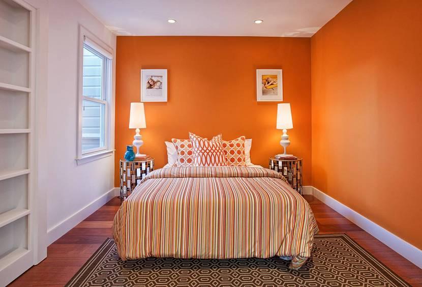 Сочная терракотовая спальня