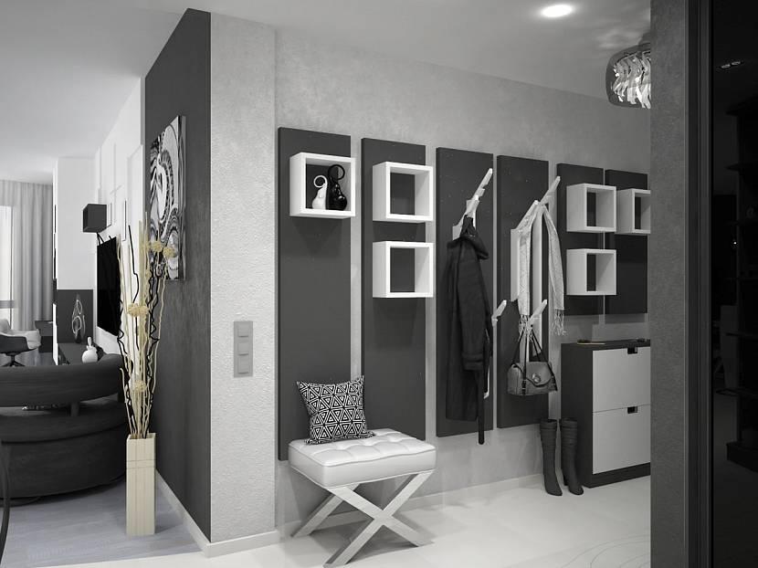 Серый дизайн прихожей