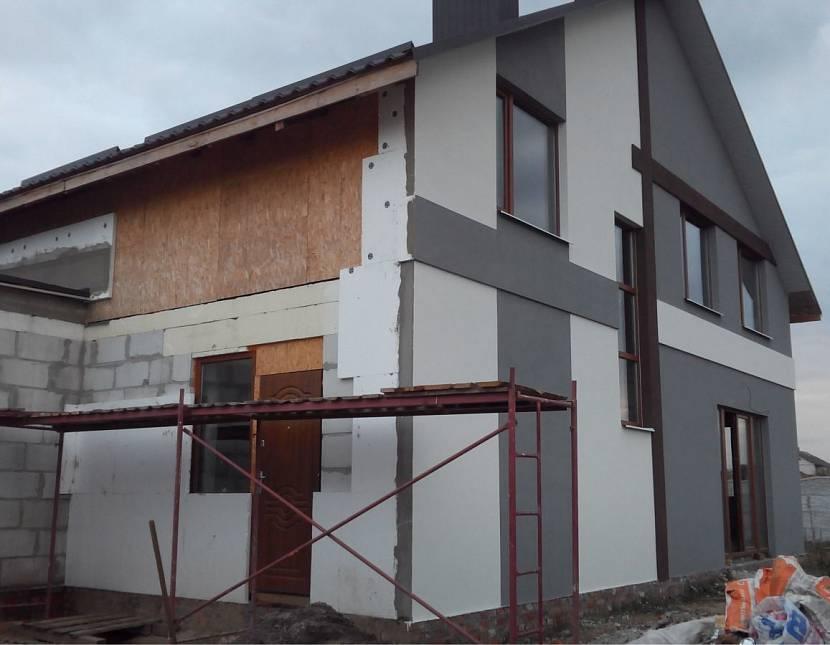 только, картинки фасада дома пенопласт совсем