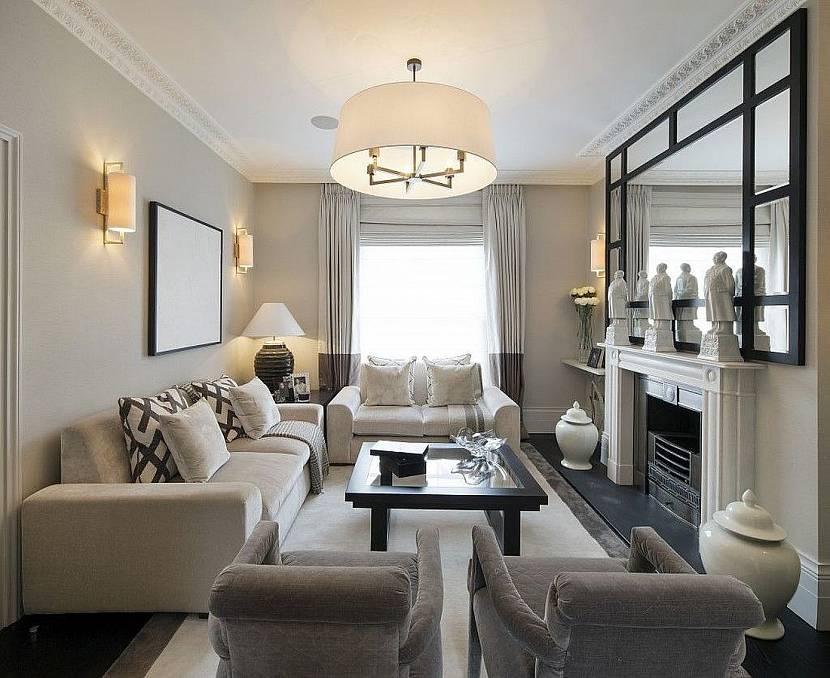 Симметричный вариант в гостиной
