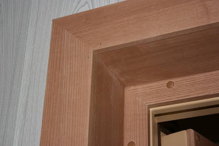Отделка дверного проема панелями МДФ