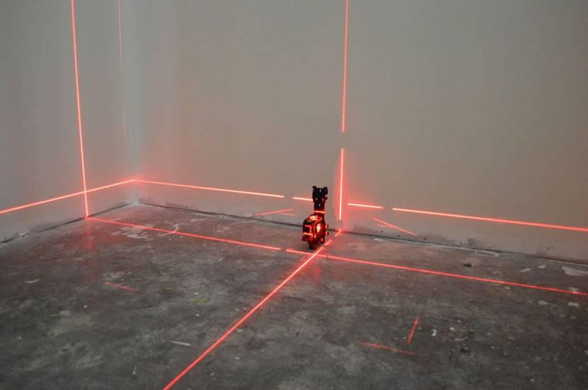 Определение ровности лазерным уровнем