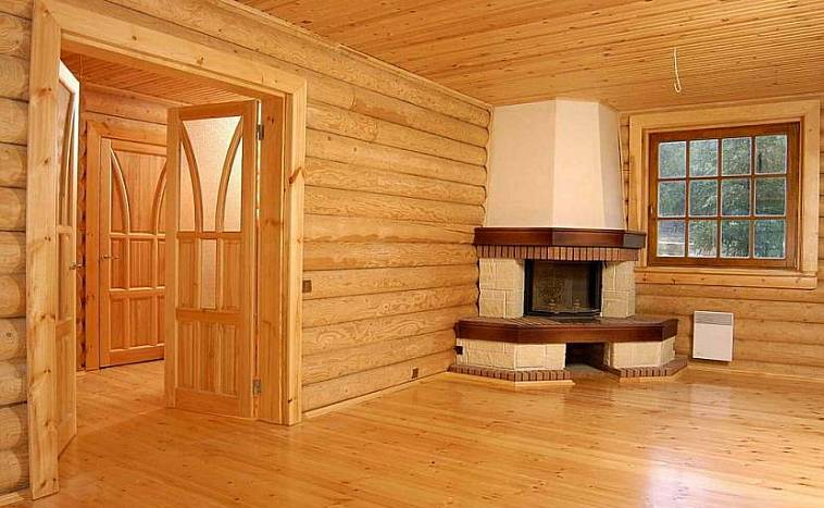 Внутренняя отделка дома из бруса: примеры дизайна, варианты и цена отделки  в Москве, фото